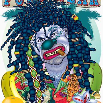 Evil Clown Rastaman by bear77