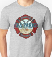 IT Crowd Inspired - Fire at Sea Parks - Sea Parks Volunteer Fire & Rescue - British Comedy Quotes T-Shirt