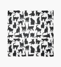 Schwarze Katzen Muster Tuch
