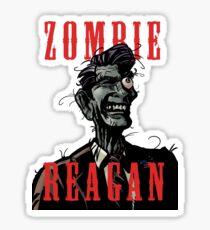 Zombie Reagan in Color Sticker