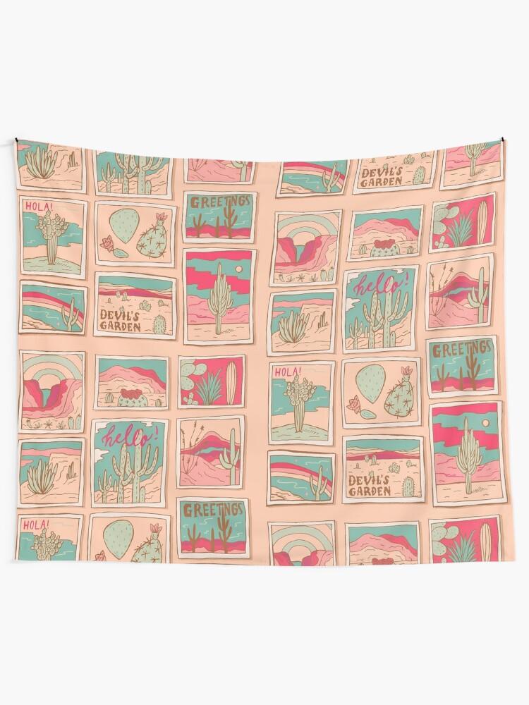 Alternate view of Retro Desert Postcards Tapestry