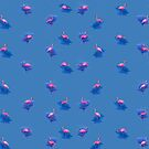 Flamingos - PARTY summer pattern by mavisshelton