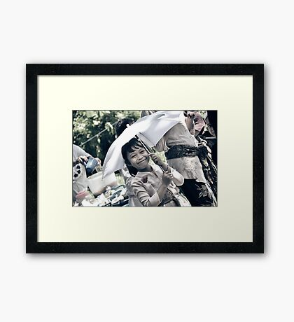 Innocence - Smile makes us alive Framed Print