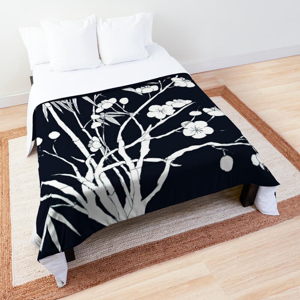 bamboo and plum flower Comforter