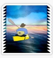 Kayak Man Sticker