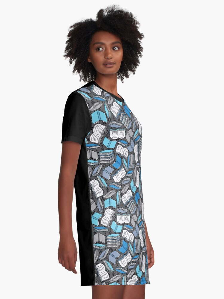 Alternate view of So Many Books... Graphic T-Shirt Dress