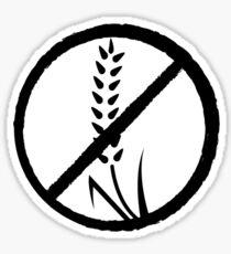 Gluten-free anti wheat symbol Sticker
