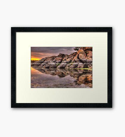 Mirror Rock Framed Print