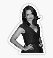 Tina Fey - B/W Sticker