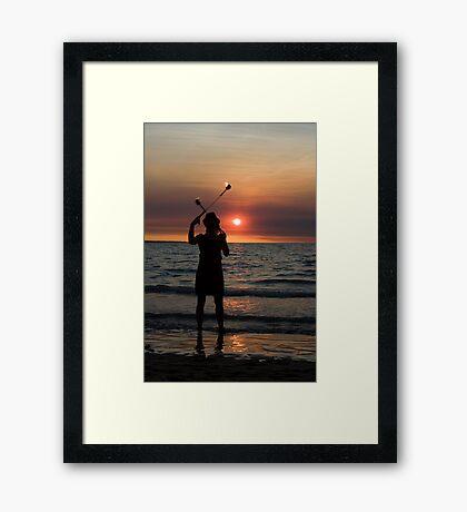 Fire Sticks - Mindil market, Darwin Framed Print