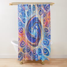 #Deepdreamed Abstraction Shower Curtain
