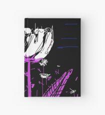 White flower Hardcover Journal