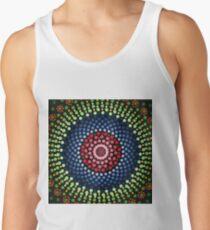 Roses and bluebell circle mandala Tank Top