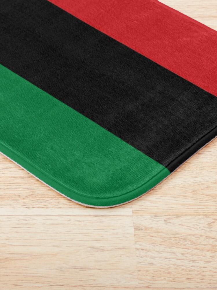 Alternate view of Pan African Flag T-Shirt - UNIA Flag Sticker - Afro American Flag Bath Mat