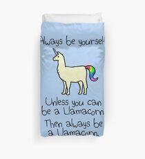 Sei immer du selbst, es sei denn du kannst ein Llamacorn sein Bettbezug