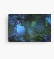 """She sat beside the Dream Pond and wrote to the Lavender Fairy ..."" Canvas Print"