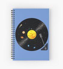Cuaderno de espiral Disco de vinilo del sistema solar