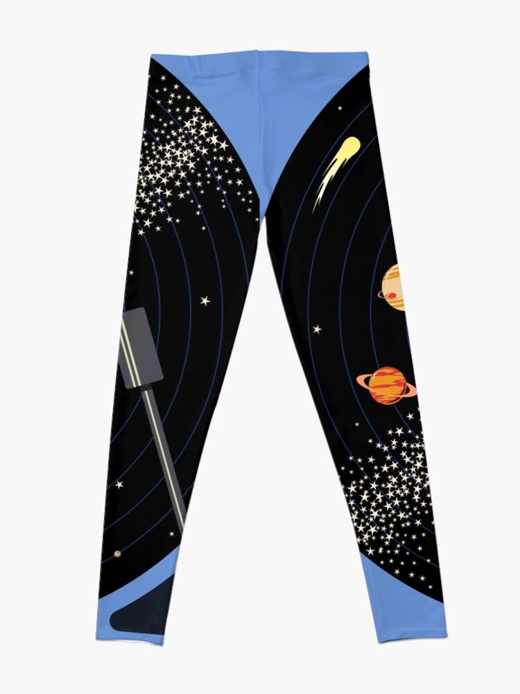Alternate view of Solar System Vinyl Record Leggings