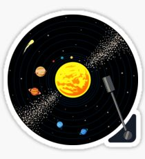 Solar System Vinyl Record Sticker