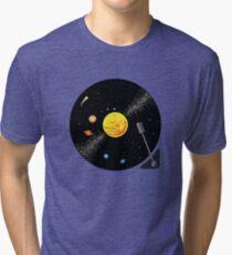 Camiseta de tejido mixto Disco de vinilo del sistema solar
