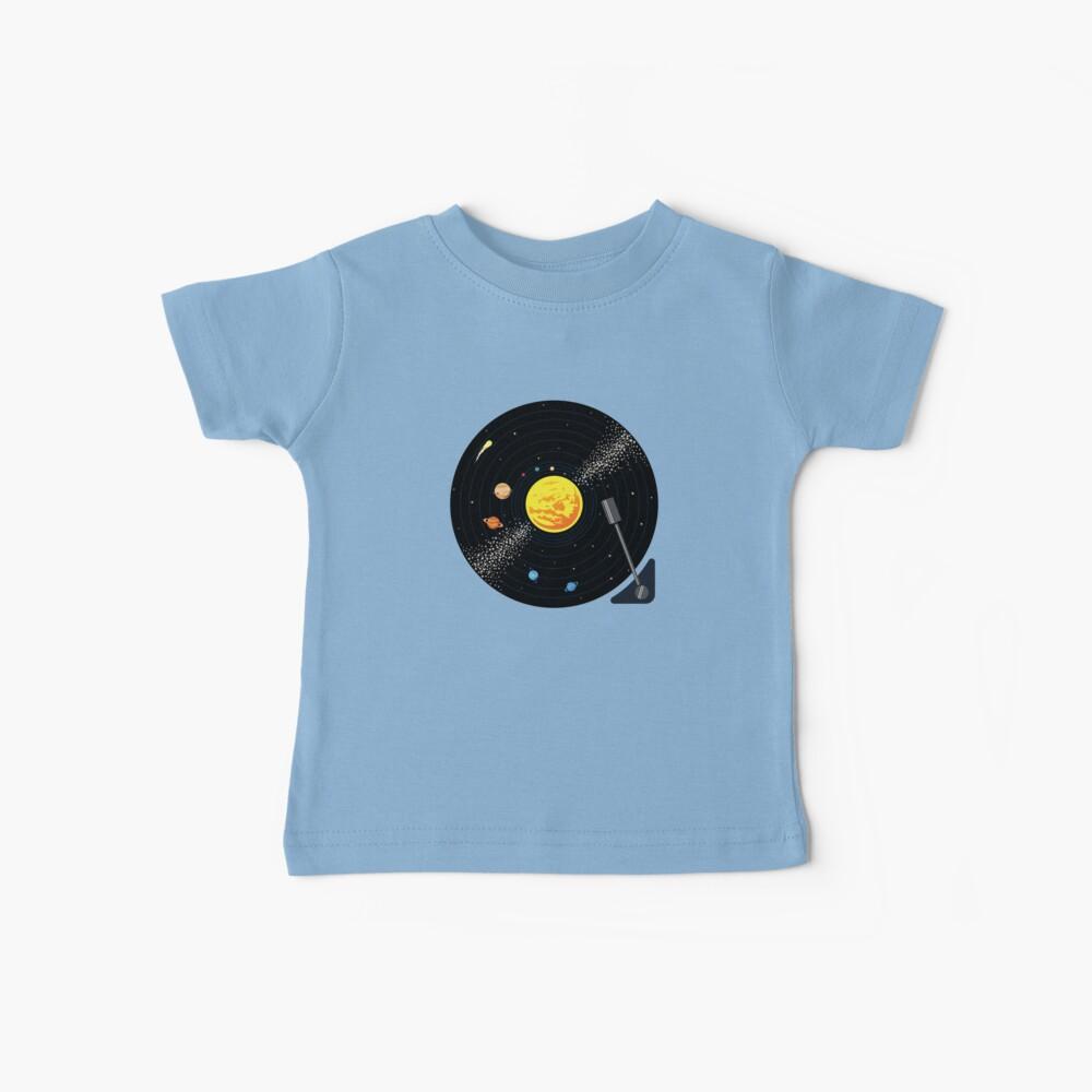 Disco de vinilo del sistema solar Camiseta para bebés