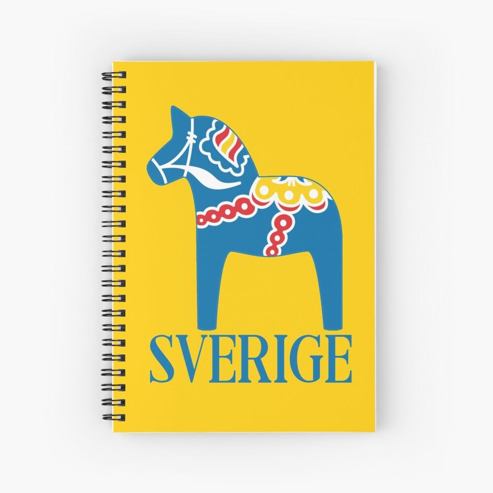 Sverige Dala Dalarna Sweden Pferd Dalecarlian Swedish Dalahost Spiralblock