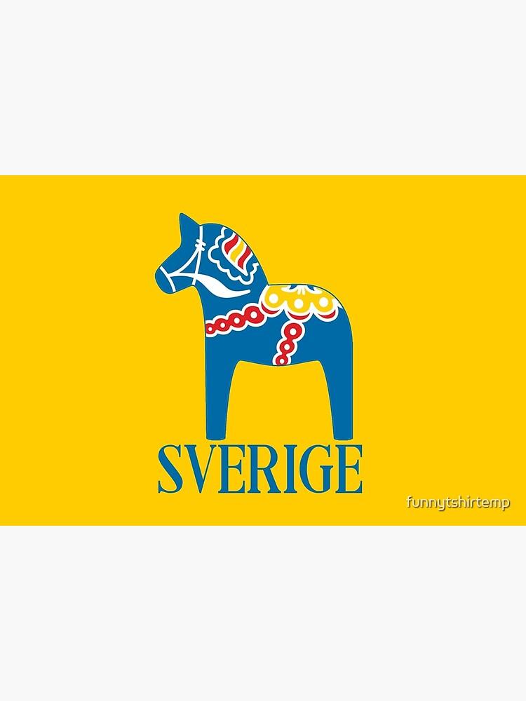 Sverige Dala Dalarna Sweden Pferd Dalecarlian Swedish Dalahost von funnytshirtemp