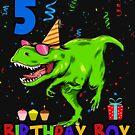 Birthday Boy 5th Dinosaurier  von Basti09