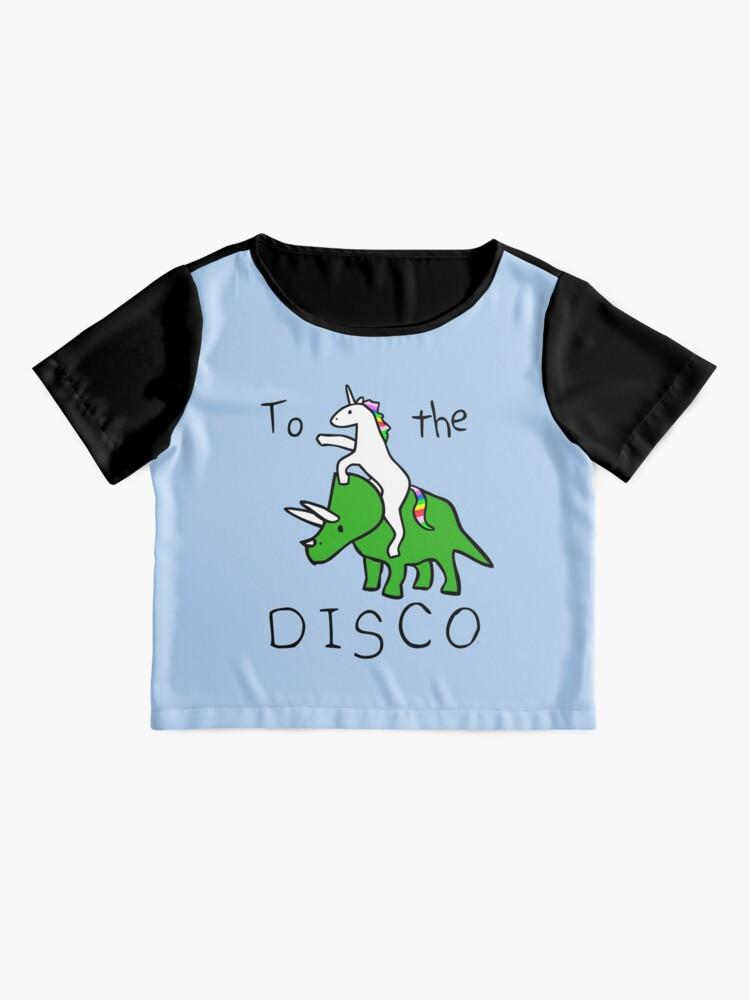Alternate view of To The Disco (Unicorn Riding Triceratops) Chiffon Top