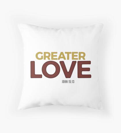 Greater love - John 15:13 Floor Pillow
