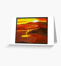 Sunset at Flinders Island Greeting Card