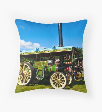 Burrell Showmans Road Locomotive Throw Pillow