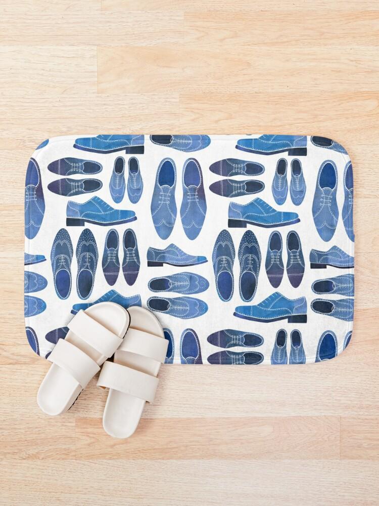 Alternate view of Blue Brogue Shoes Bath Mat
