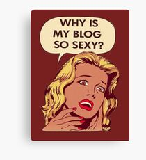Blog pop art Canvas Print