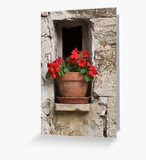 Provence Flower Pot Greeting Card