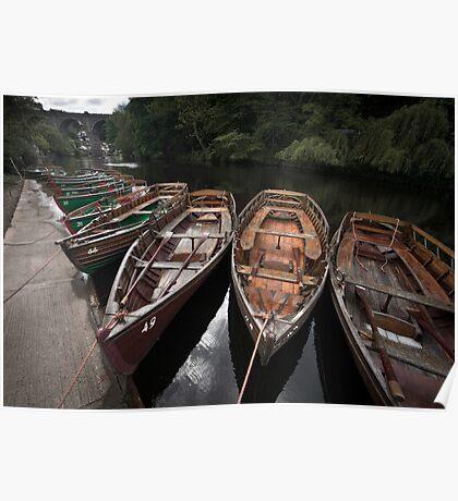 Boats, Knaresborough Poster