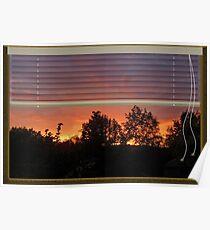 Window Sunset Poster