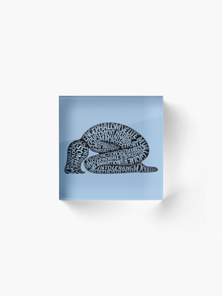 Alternate view of Les ravages de l'EM by Jill Thompson Acrylic Block