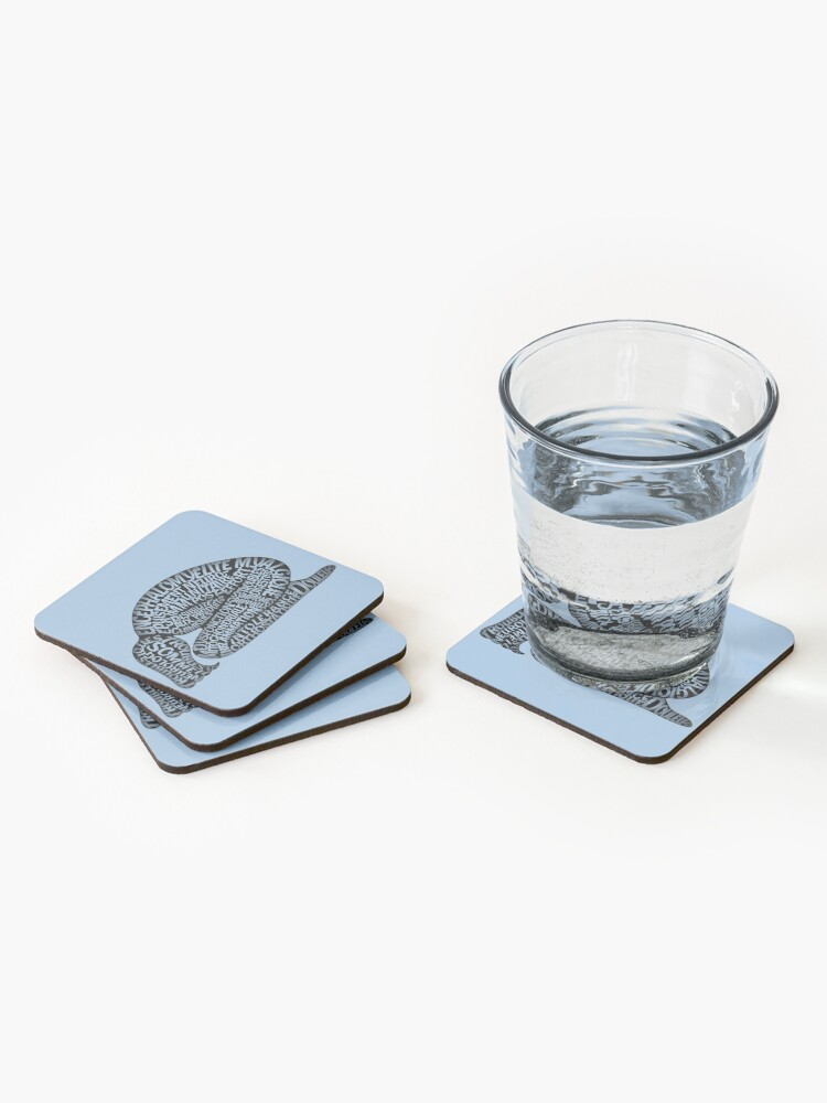 Alternate view of Les ravages de l'EM by Jill Thompson Coasters (Set of 4)