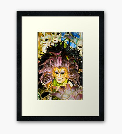 What's Behind The Mask? Framed Print