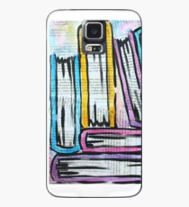 Watercolor books on pages Case/Skin for Samsung Galaxy