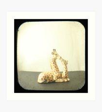 Giraffe Love TTV Art Print