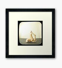 Giraffe Love TTV Framed Print