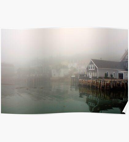 Fog, Stonington Harbor, Maine Poster