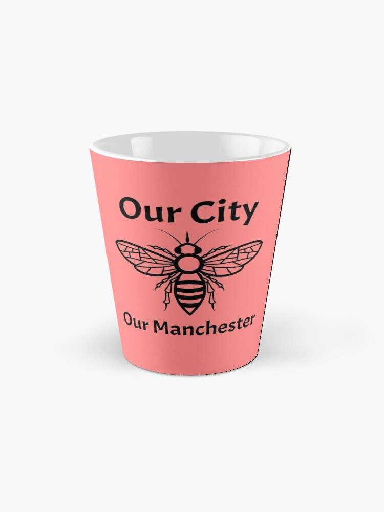 Alternate view of Our City, Our Manchester Bee Mug