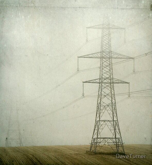 Pylons in the Mist by DaveTurner