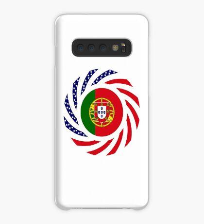 Portuguese American Multinational Patriot Flag Series Case/Skin for Samsung Galaxy
