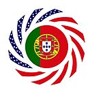 Portuguese American Multinational Patriot Flag Series by Carbon-Fibre Media