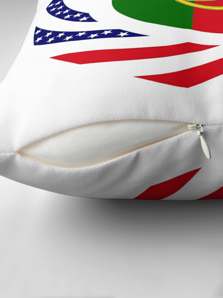 Alternate view of Portuguese American Multinational Patriot Flag Series Throw Pillow