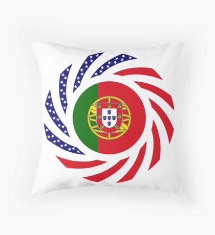 Portuguese American Multinational Patriot Flag Series Throw Pillow